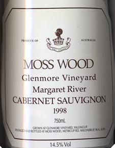 Label_MW_Glenmore_Vineyard_1998