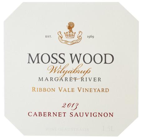 L27_20151118_MOSS WOOD_White bg label Cab Sav 2013 Magnum Ribbonvale